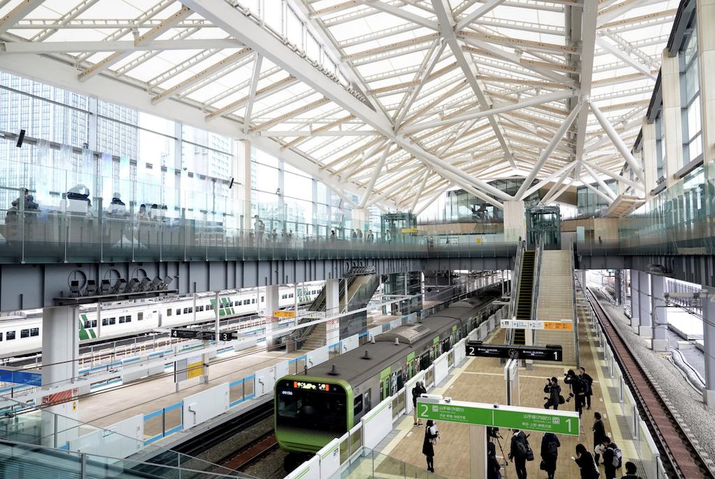 JR山手線 高輪ゲートウェイ駅  ハンターストア東京ショールーム 最寄り駅に