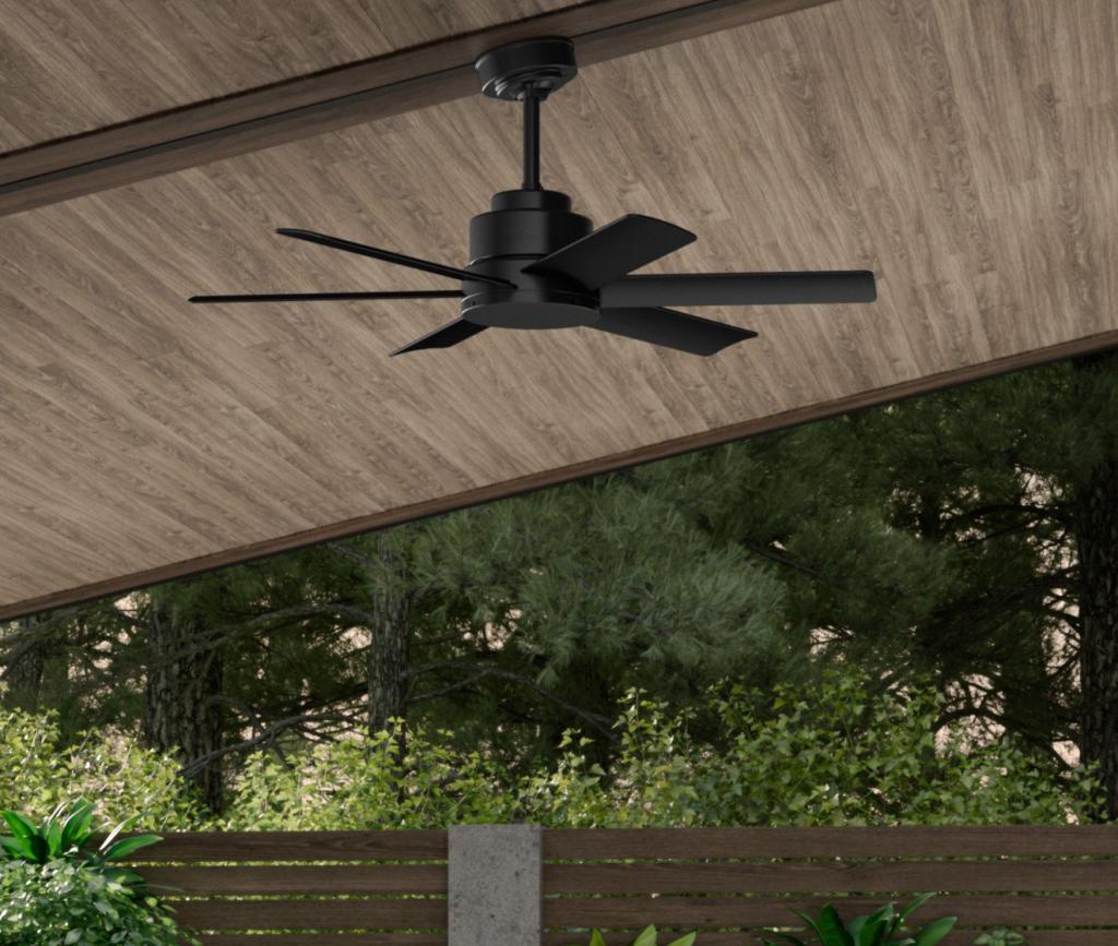 59613 ケニコット マットブラック ハンターシーリングファン 画像 Hunter Fan Kennicott Outdoor 44 inch