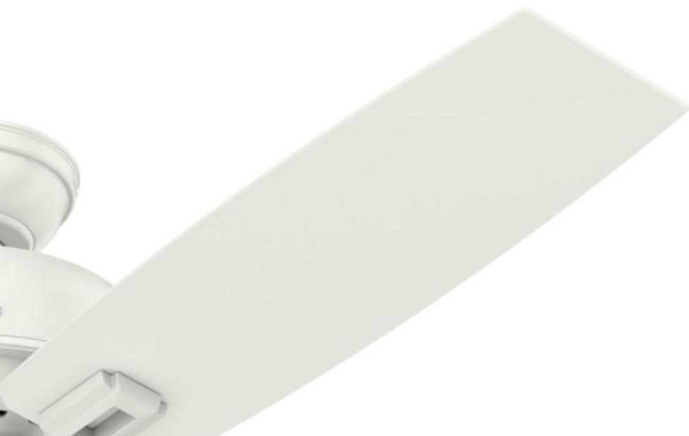 54168 ドネガン フレッシュホワイト ハンターシーリンシーリングファン画像 Hunter Fan