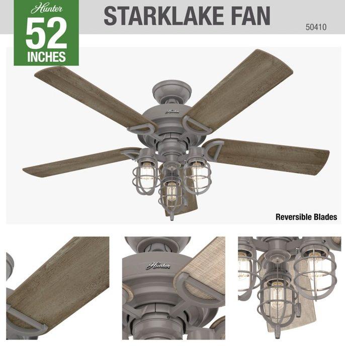 50410 Starklake (スタークレイク)ハンターシーリングファン画像