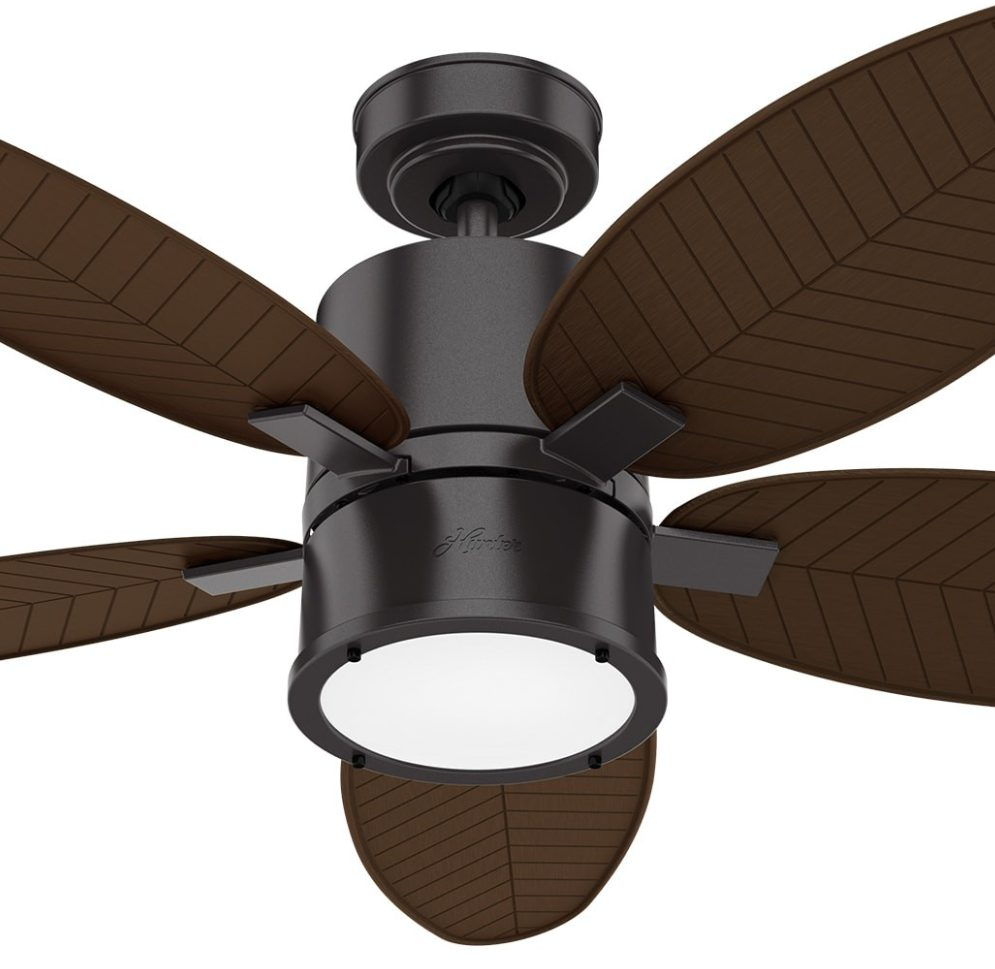 51191  アマリリス Amaryllis Outdoor with LED Light 52 inch Noble Bronze 羽根 Brushed Cocoa  ハンターシーリングファン ライト 画像