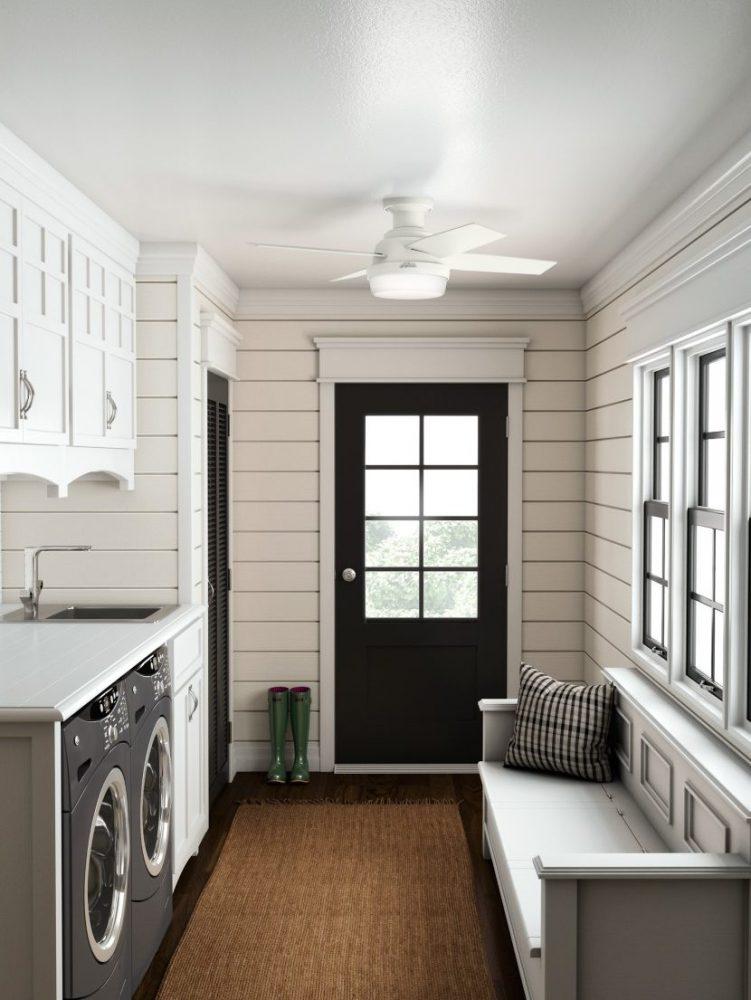 デンプシー・44インチ・ロープロフィール アウトドア Fresh White (112cm) ハンターシーリングファン ロープロフィール ライト 画像  Fresh White - Washed Oak | Item 50399 Huter Fan