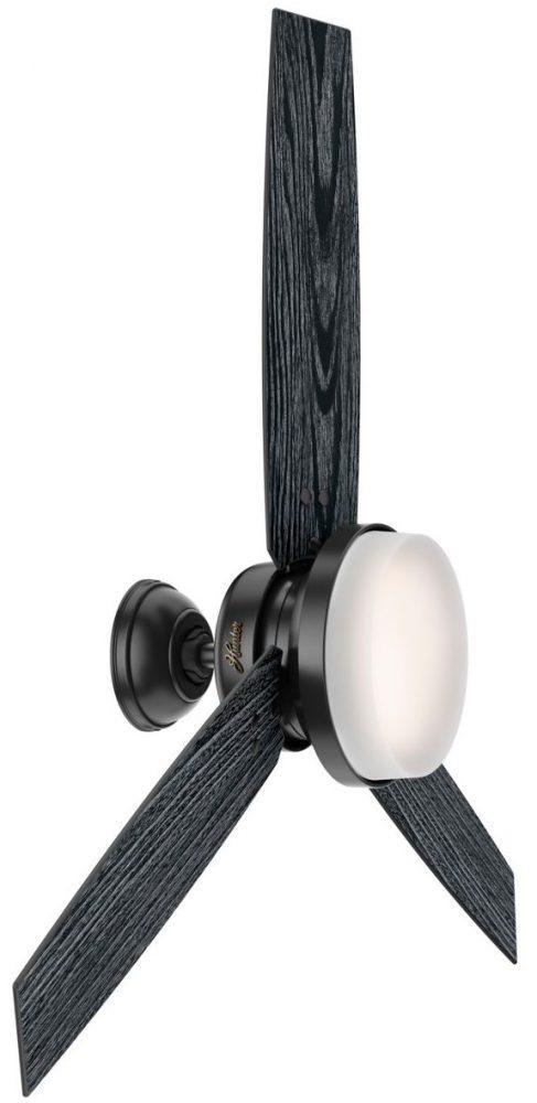 センチネル・52インチMatte Black (132cm) マットブラック Matte Black - Salted Black   Item 50285 ハンター シーリングファン ライト 画像