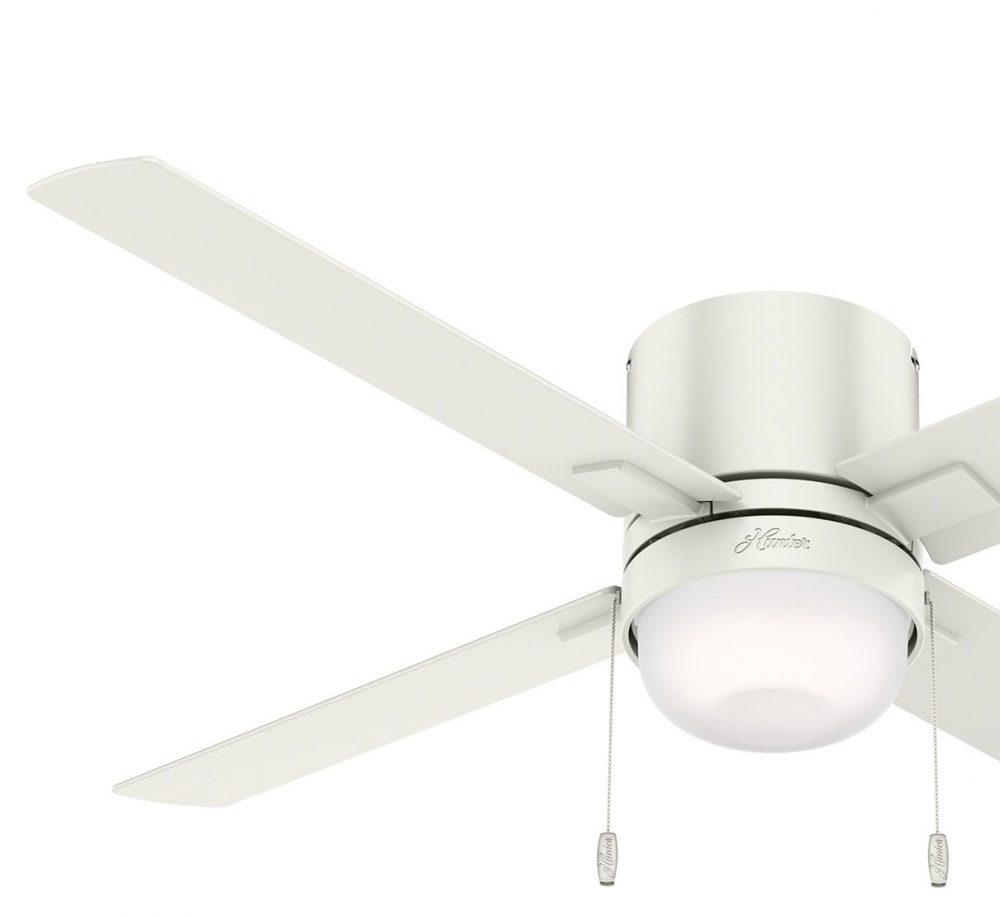 ミニキン Fresh White - Fresh White   Item 50982  ハンターシーリングファン ライト画像